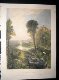 After Turner 1865 Hand Col Art Journal Print. Mercury & Argus